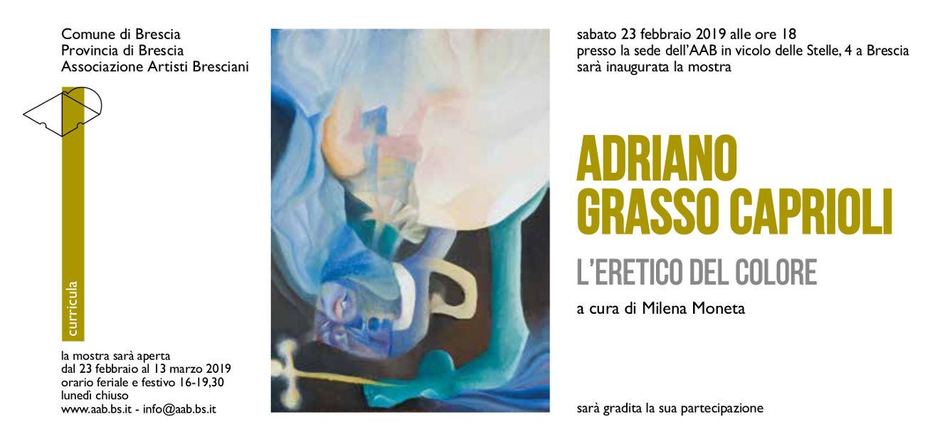Adriano Grasso Caprioli in mostra a Brescia
