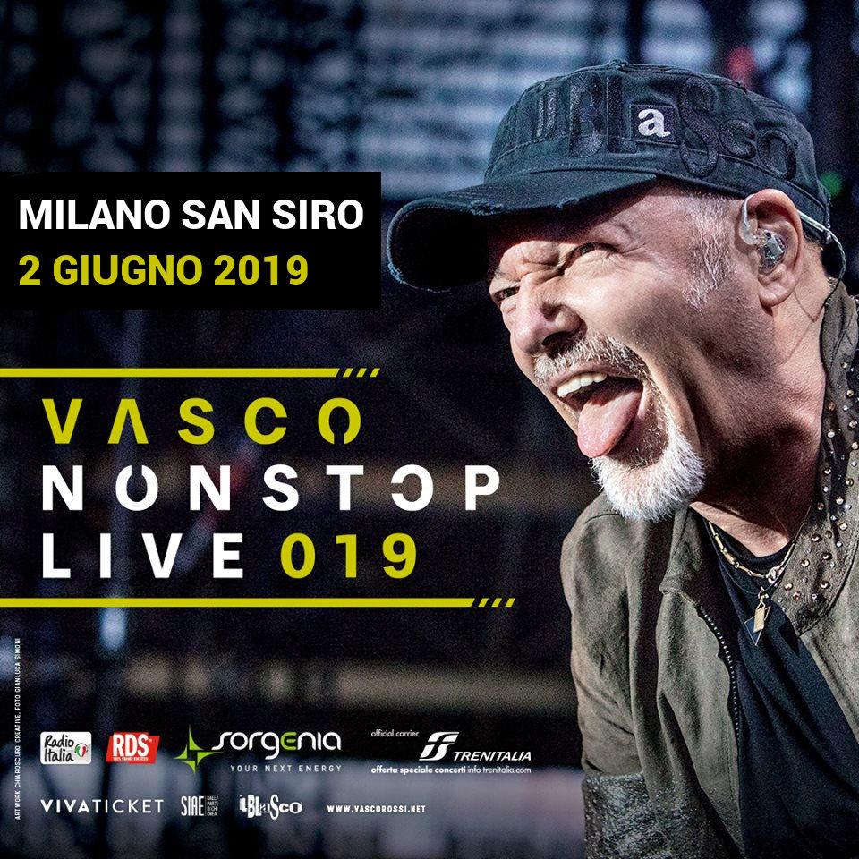 Trasporto Concerto Bus Vasco - Stadio San Siro a Milano - 02/06/2019
